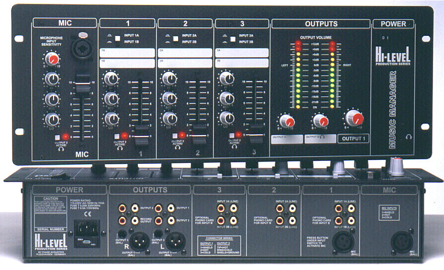 HI-LEVEL © Audio Mixers and Loudspeaker Systems